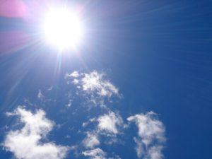 紫外線により日焼け